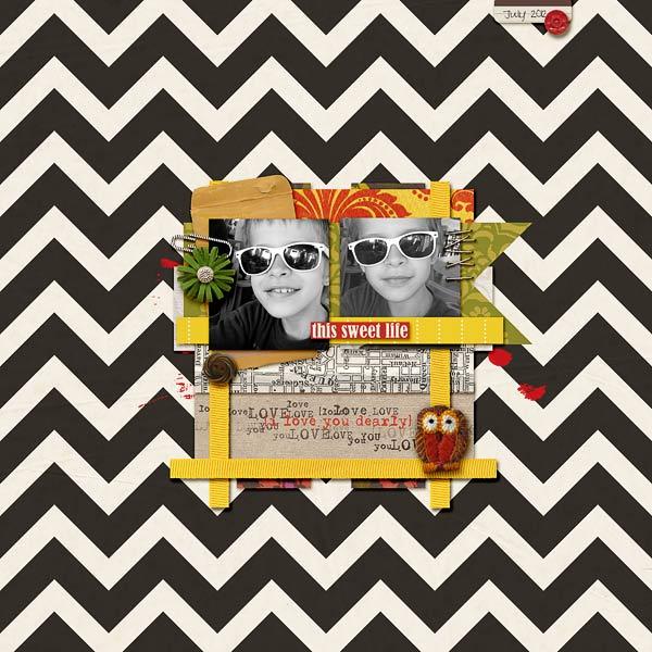 Angie4b1g - inspirational scrapbook layout