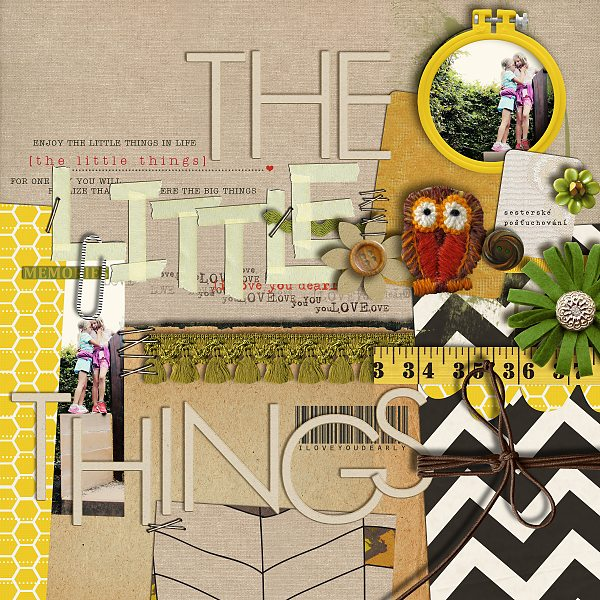 Hanazana1 - inspirational scrapbook layout