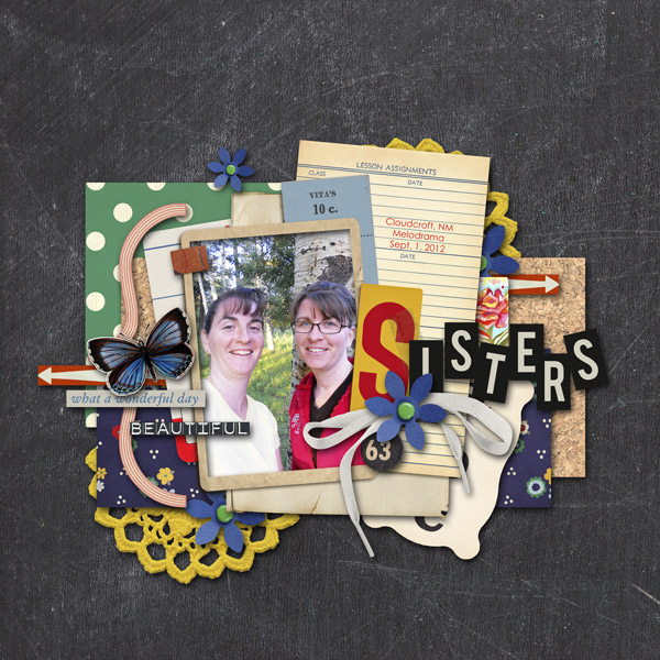 alamama - inspirational scrapbook layout