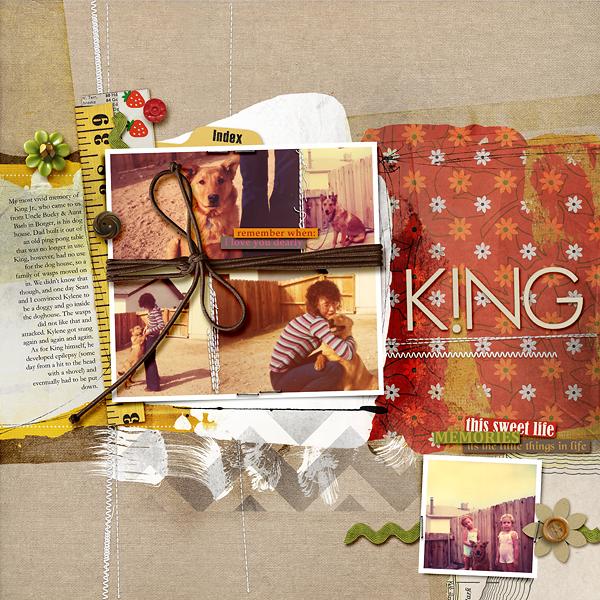 amberr - inspirational scrapbook layout