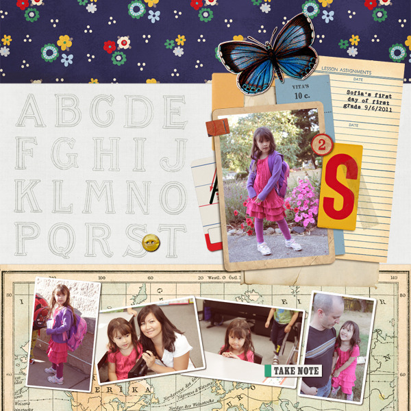cathypascual - inspirational scrapbook layout