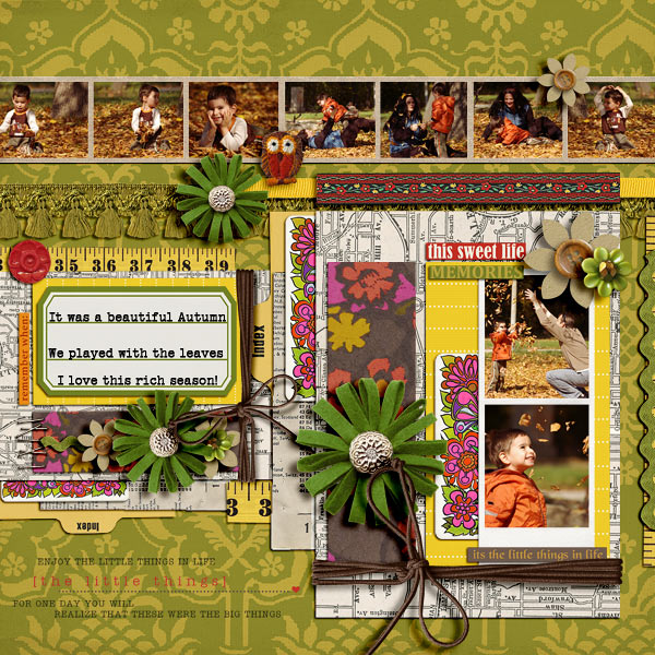damayanti - inspirational scrapbook layout