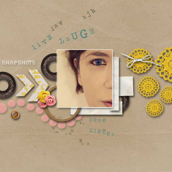 dul - inspirational scrapbook layout