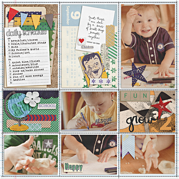 heathergw - inspirational scrapbook layout