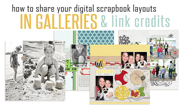 how to upload layouts to galleries and link credits