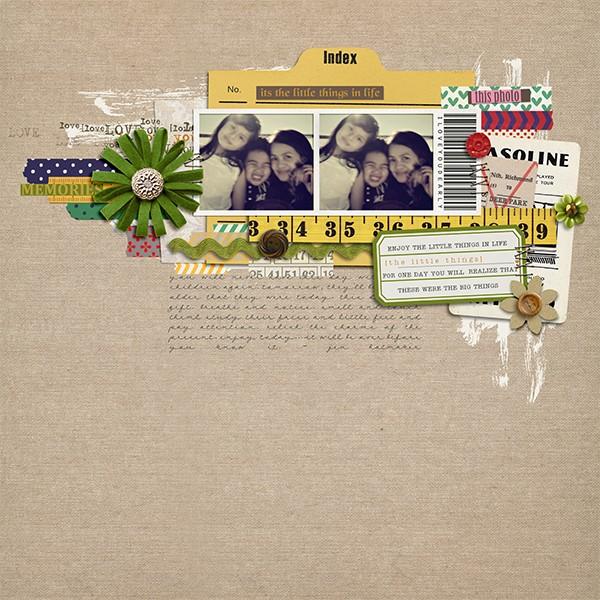 margelz - inspirational scrapbook layout