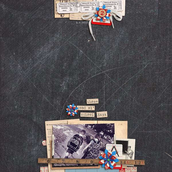 misserin - inspirational scrapbook layout