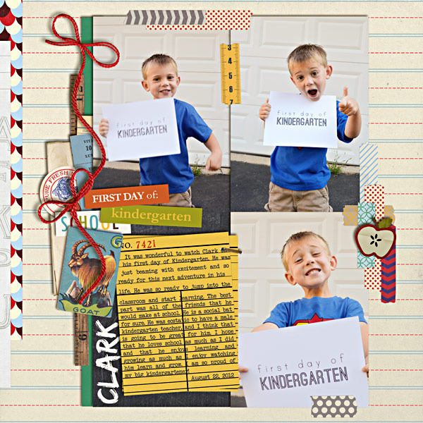 plumdumpling - inspirational scrapbook layout