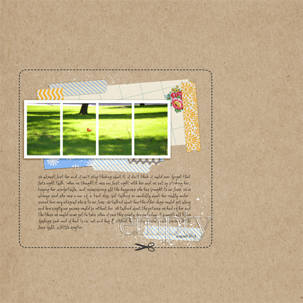 strange.bird - inspirational scrapbook layout