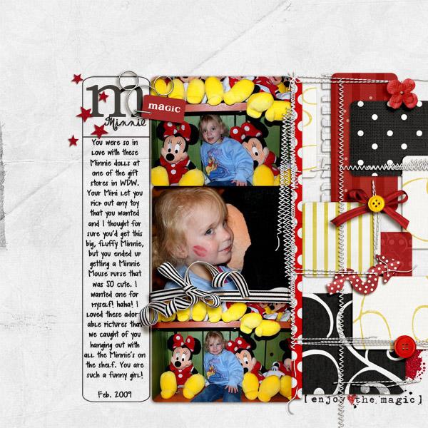 digital scrapbook layout inspiration