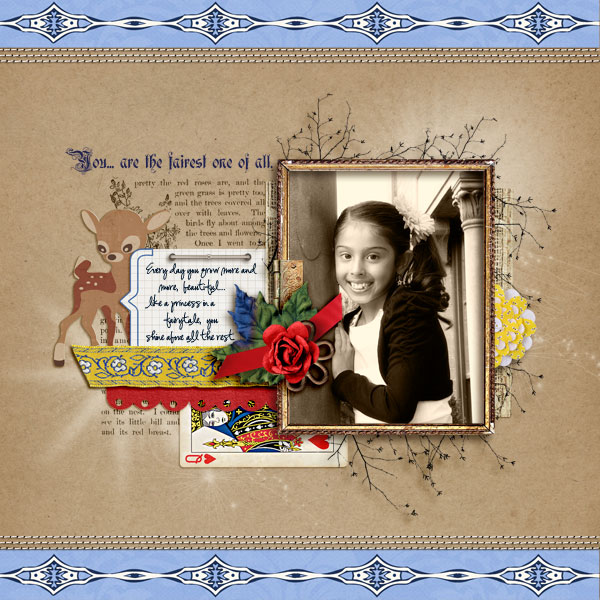 askings - inspirational scrapbook layout
