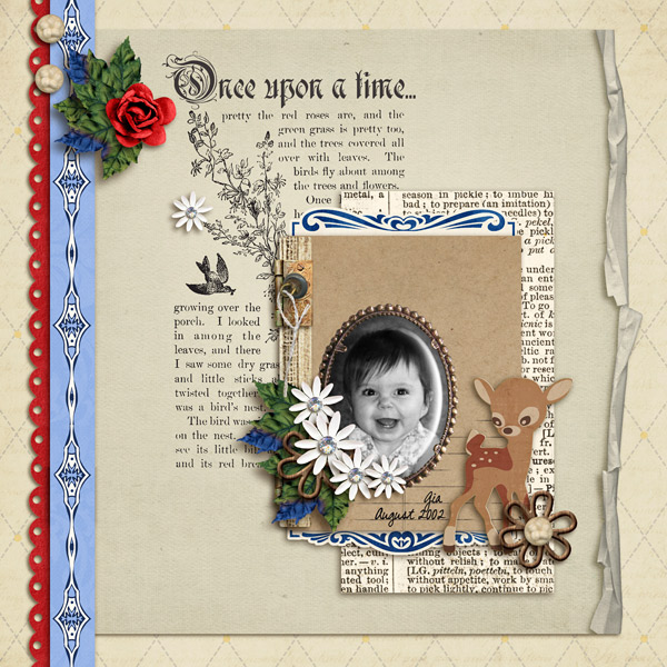 davita - inspirational scrapbook layout