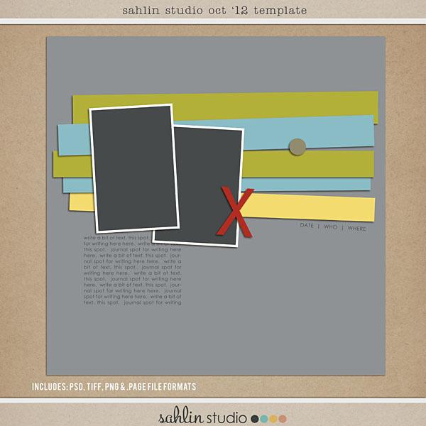 Oct 12 Digital Scrapbooking Free Template Sahlin Studio Digital