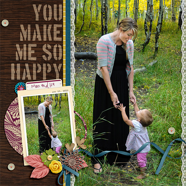 kv2av - inspirational scrapbook layout