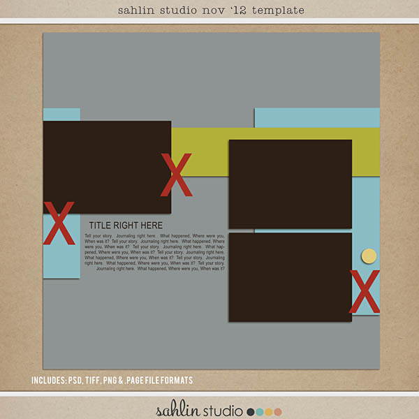 Nov '12 Digital Scrapbooking FREE Template