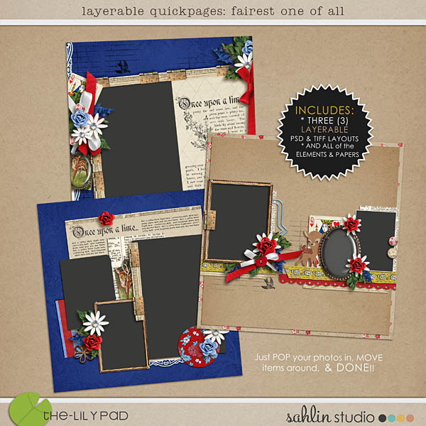 layerable quickpages: fairest one of all by sahlin studio