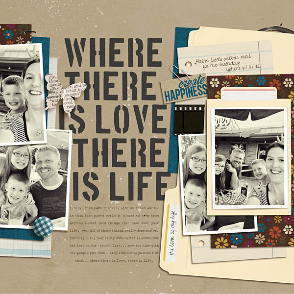sahlink - inspirational scrapbook layout