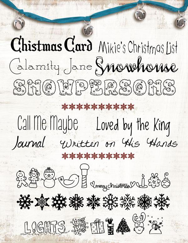 Winter/Christmas Fonts