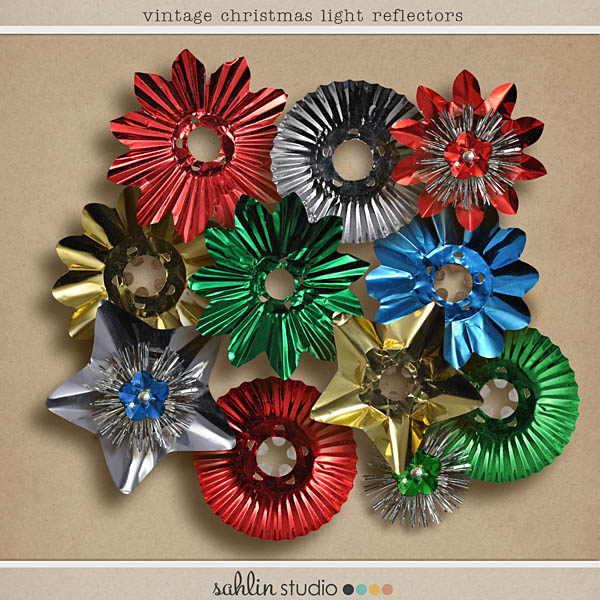 vintage christmas light reflectors by sahlin studio