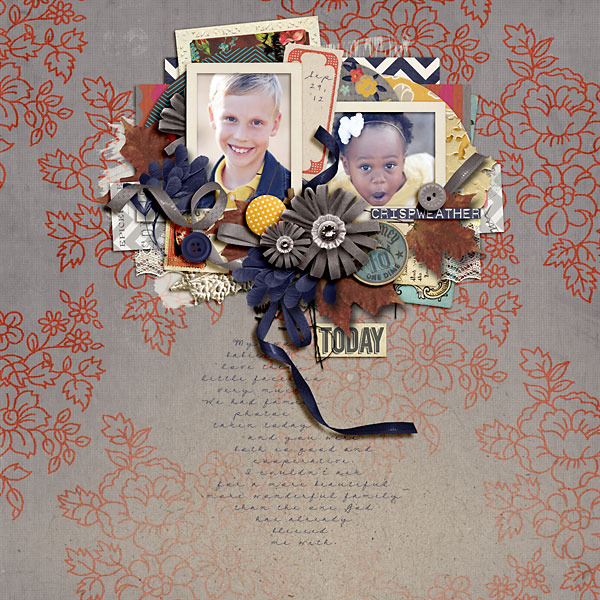 leah_girlygirl - inspirational scrapbook layout