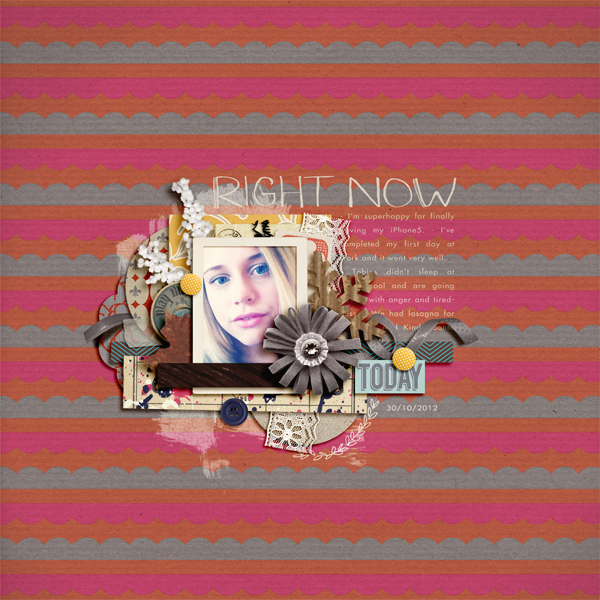 liahra - inspirational scrapbook layout