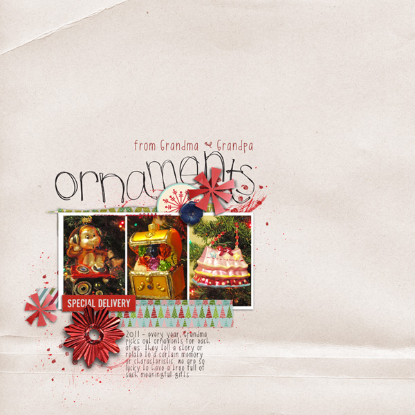 rebeccah - inspirational scrapbook layout