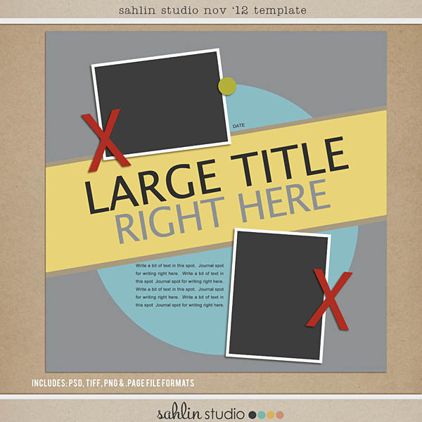 Advertisement Inspiration 5 and Template Freebie | Sahlin Studio ...