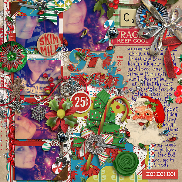 snaggletooth75 - inspirational scrapbook layout
