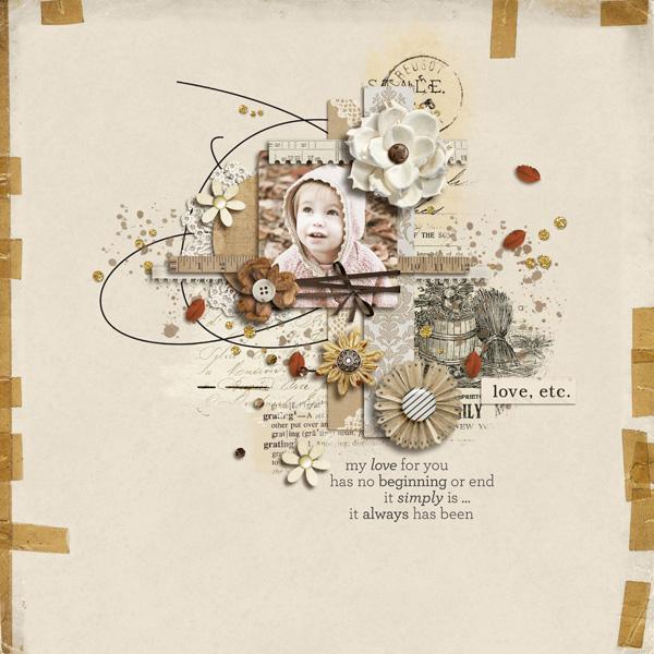 sucali - inspirational scrapbook layout
