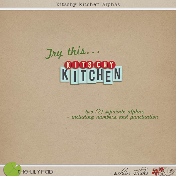 Kitschy Kitchen Alphas by Sahlin Studio