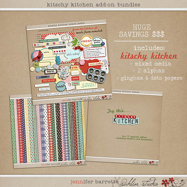 Kitschy Kitchen Add On Bundle by Sahlin Studio and Jennifer Barrett