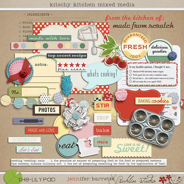 Kitschy Kitchen Mixed Media by Sahlin Studio and Jennifer Barrette