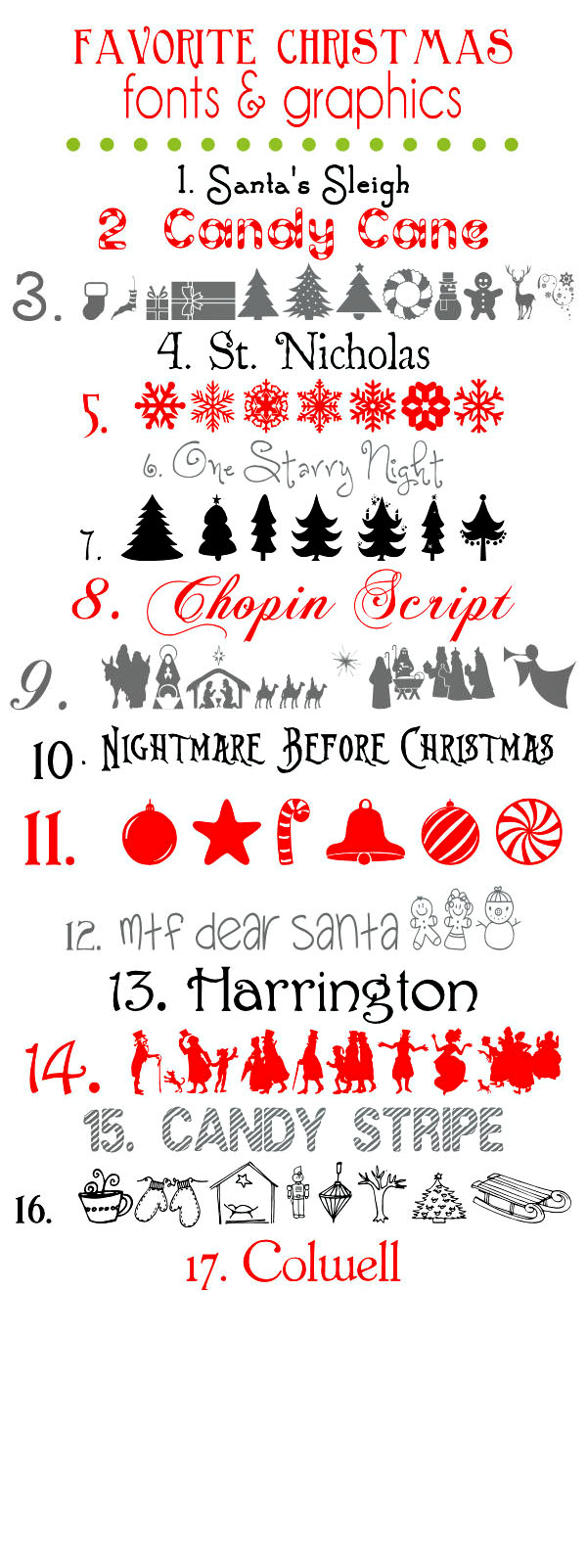 Free Christmas Holiday Winter Fonts