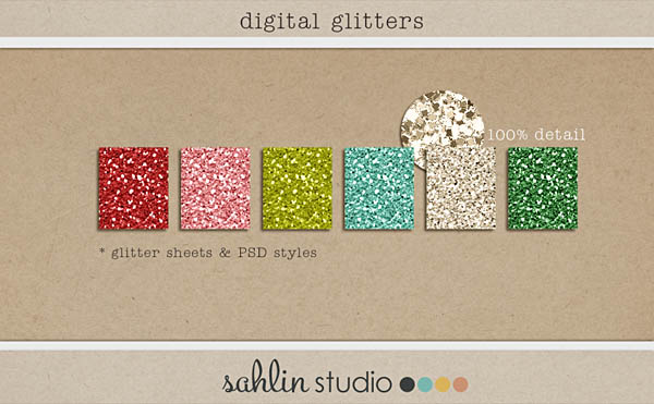 digital glitter sheet style by sahlin studio