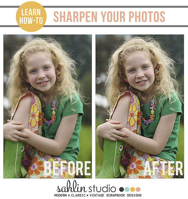 learn how to sharpen your photos