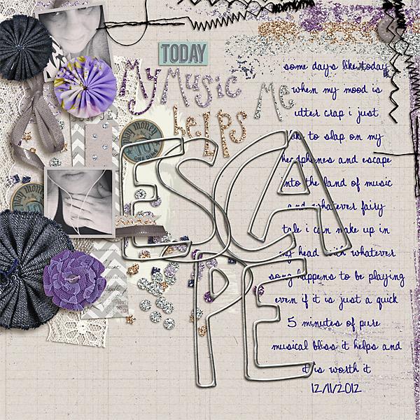 snaggletooth75 - inspirational scrapbook layout