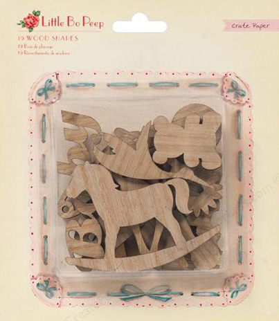 Crate Paper Embellishments Little Bo Peep Wood Veneer ShapesC