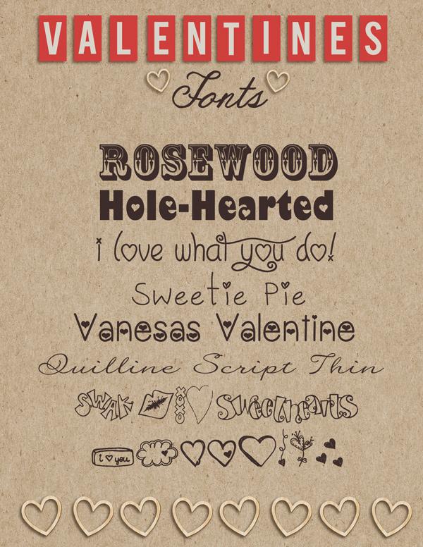 Valentine-Fonts