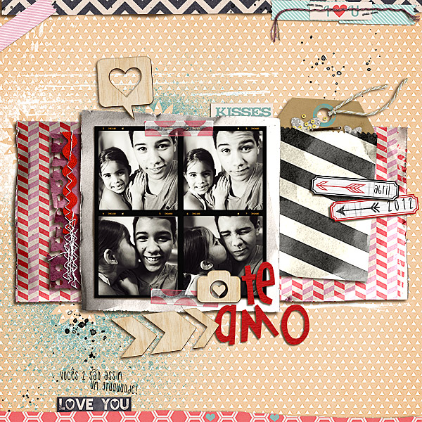 amandaresende - inspirational scrapbook layout