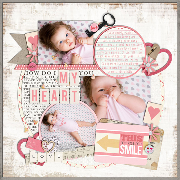 britt - inspirational scrapbook layout