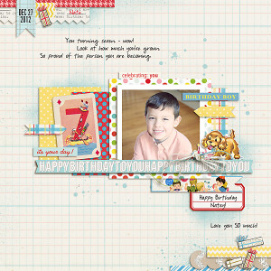 carolee - inspirational scrapbook layout
