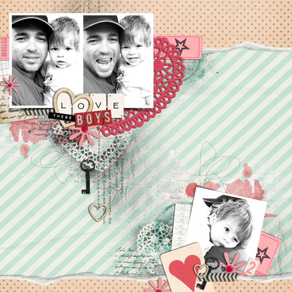justagirl - inspirational scrapbook layout