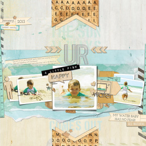justagirl - inspirational scrapbook layout