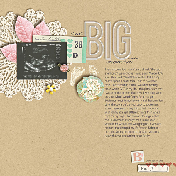 digital scrapbooking layout inspiration