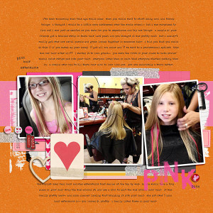 kristasahlin - inspirational scrapbook layout