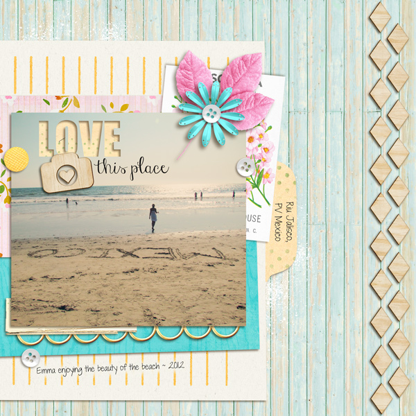 lor - inspirational scrapbook layout