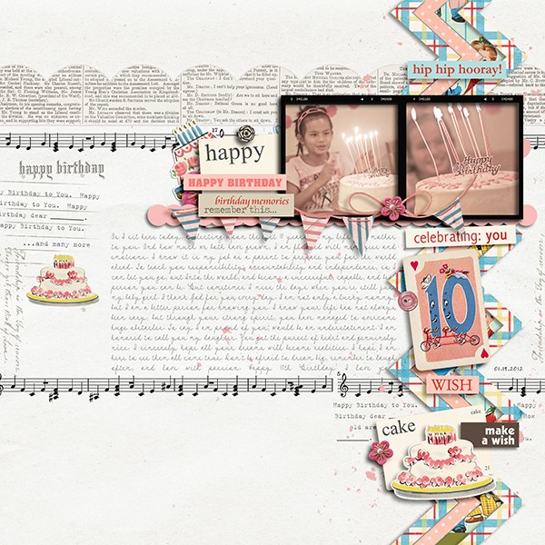 margelz - inspirational scrapbook layout