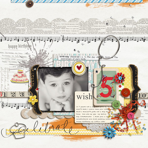 mommy2boyz - inspirational scrapbook layout