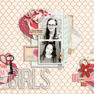 my2monkeys - inspirational scrapbook layout