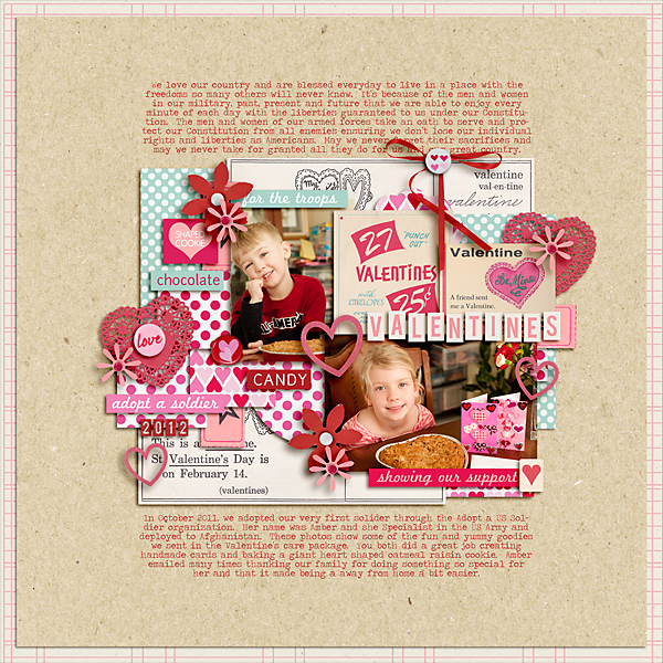pne123 - inspirational scrapbook layout